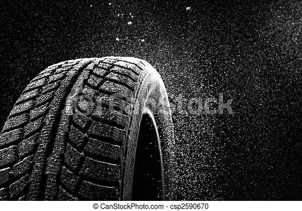 rubber, sneeuw - csp2590670