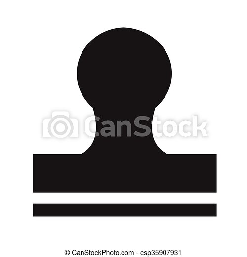 Rubber Stamp icon Illustration design - csp35907931