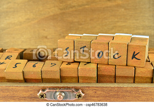 Rubber stamp made by wood - csp46783638