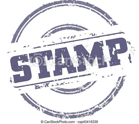 Rubber Stamp Template Easy Edited Template Rubber Stamp  Vectors