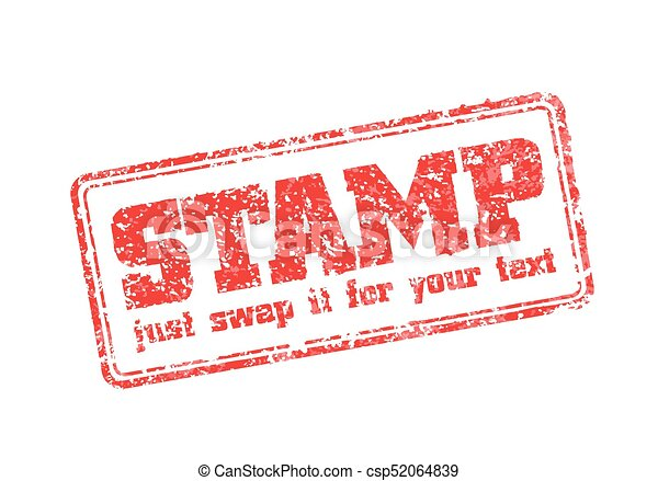 Rubber stamp template. Easy edited template of rubber stamp. just ...