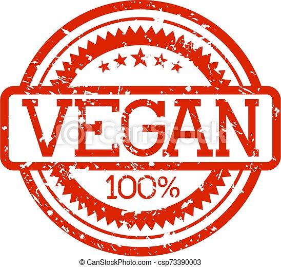rubber, vegan, postzegel - csp73390003