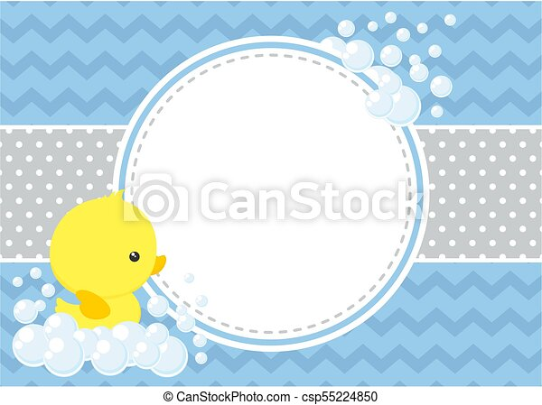 Rubberducky Baby Shower Card Cute Baby Shower Card With Little Baby