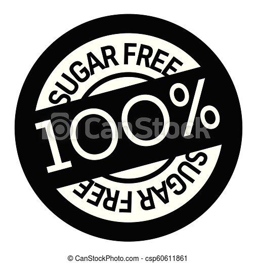 rubberstempel, kosteloos, suiker - csp60611861