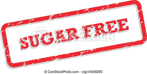 rubberstempel, kosteloos, suiker - csp14009283