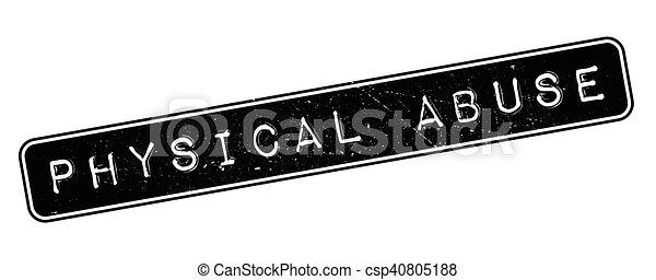rubberstempel, misbruiken, lichamelijk - csp40805188