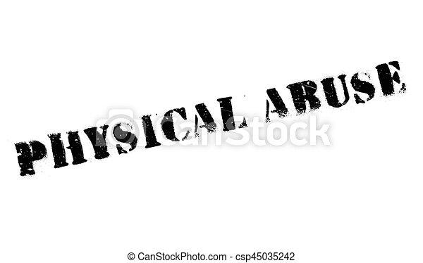 rubberstempel, misbruiken, lichamelijk - csp45035242