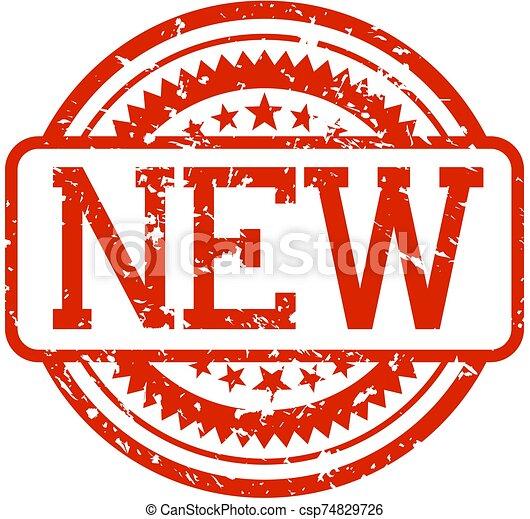 rubberstempel, nieuw - csp74829726