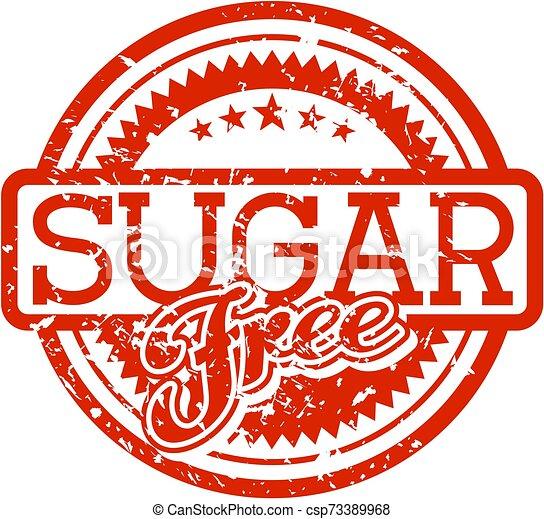 rubberstempel, suiker, kosteloos - csp73389968