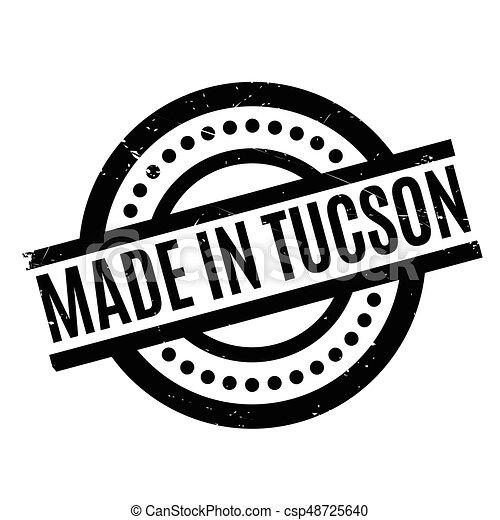 rubberstempel, tucson, gemaakt - csp48725640