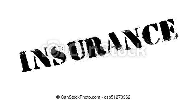rubberstempel, verzekering - csp51270362