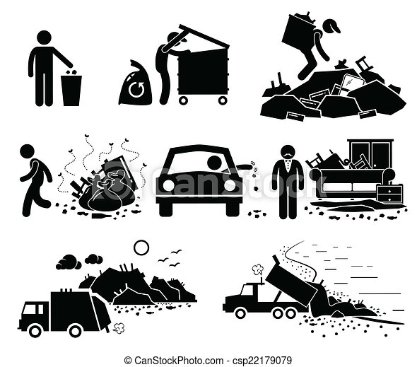Rubbish Trash Waste Dump Site - csp22179079