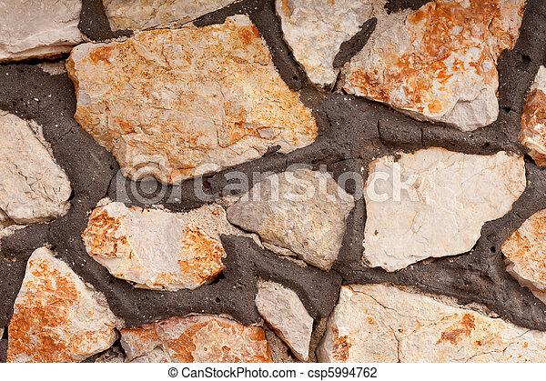 Rubblestone Wall Background Texture Pattern - csp5994762