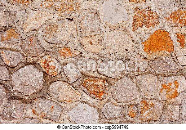Rubblestone Wall Background Texture Pattern - csp5994749