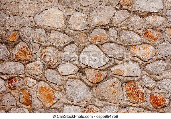 Rubblestone Wall Background Texture Pattern - csp5994759
