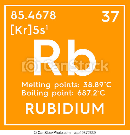 Rubidium Alkali Metals Chemical Element Of Mendeleevs Periodic