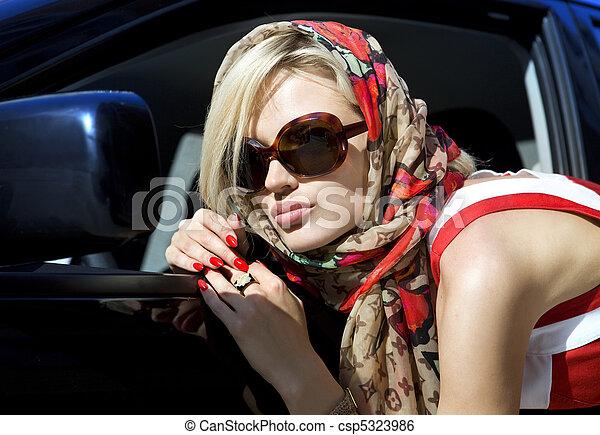 rubio, moda, mujer - csp5323986