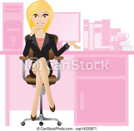Secretaria rubia - csp14333871