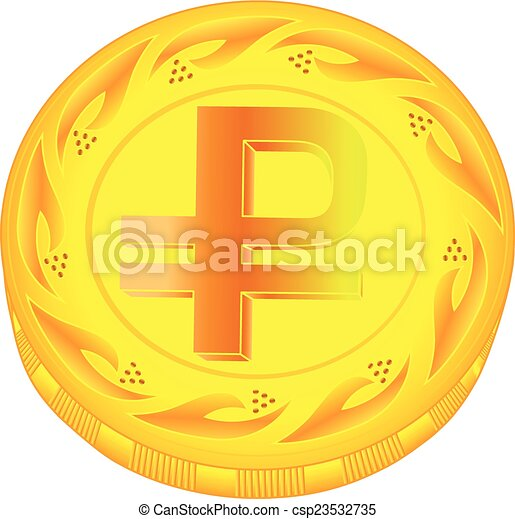 Ruble coin - csp23532735