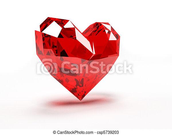 ruby heart - csp5739203