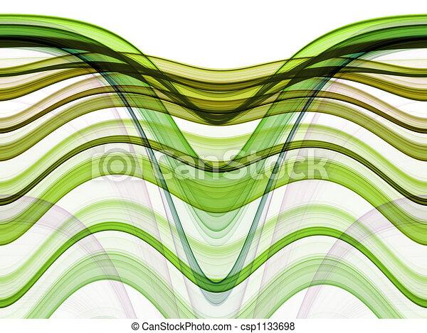 ruch, abstrakcyjny, tło, fale - csp1133698
