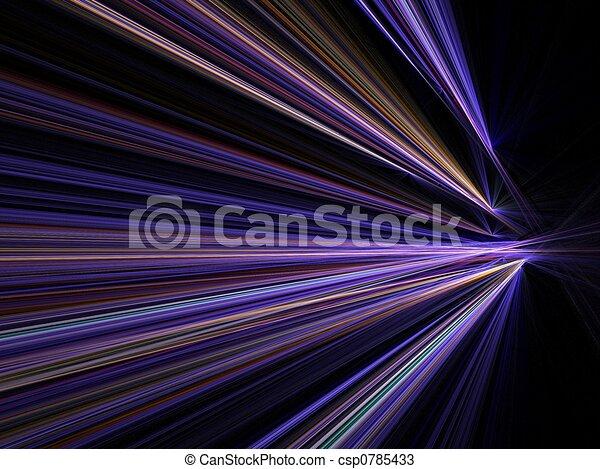 ruch, miasto, szybkość, światła, plama - csp0785433