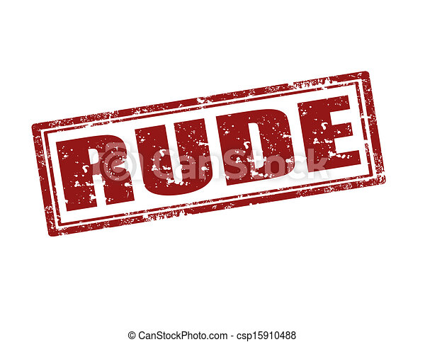 rude stamp grunge rubber stamp with word rude vector illustration