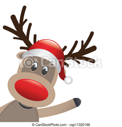 Real Reindeer With A Red Nose