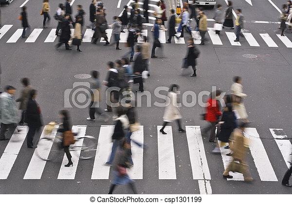 rue croisement, gens - csp1301199