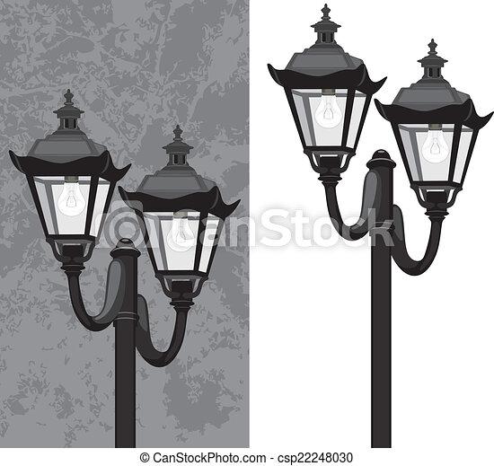 rue, lanterne - csp22248030