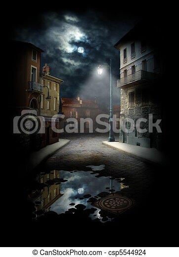 rue, nuit - csp5544924