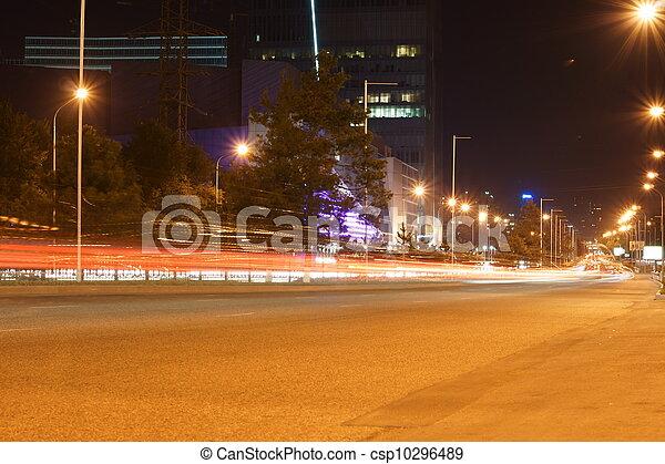 rue, nuit - csp10296489