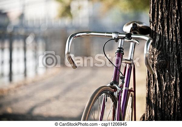 rue ville, vélo, route - csp11206945