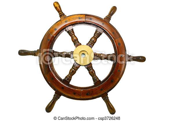rueda, barco - csp3726248