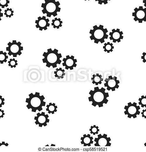 El icono de la rueda de engranajes sin fondo. Ilustración de vectores de negocios. El símbolo de la rueda de engranaje. - csp58519521