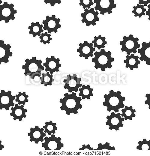 El vector de velocidad de icono está en el fondo. Ilustración de ruedas de Cog en fondo blanco. El concepto de negocios de Gearwheel. - csp71521485