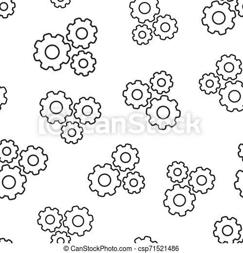 El vector de velocidad de icono está en el fondo. Ilustración de ruedas de Cog en fondo blanco. El concepto de negocios de Gearwheel. - csp71521486