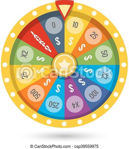Ilustración de vectores de la rueda de la fortuna - csp39559975