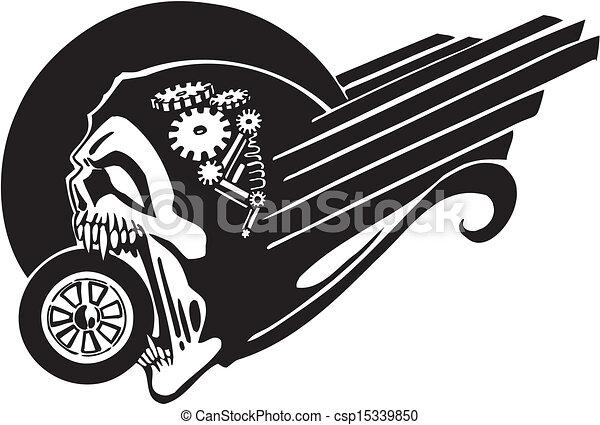 Muerte y rueda, ilustración del vector. - csp15339850