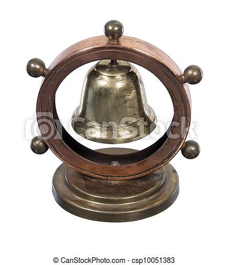 Rueda de dirección náutica y campana - csp10051383