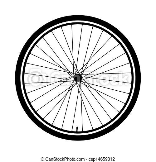 Silueta de una rueda de bicicleta - csp14659312