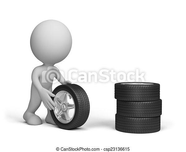 El hombre con ruedas - csp23136615