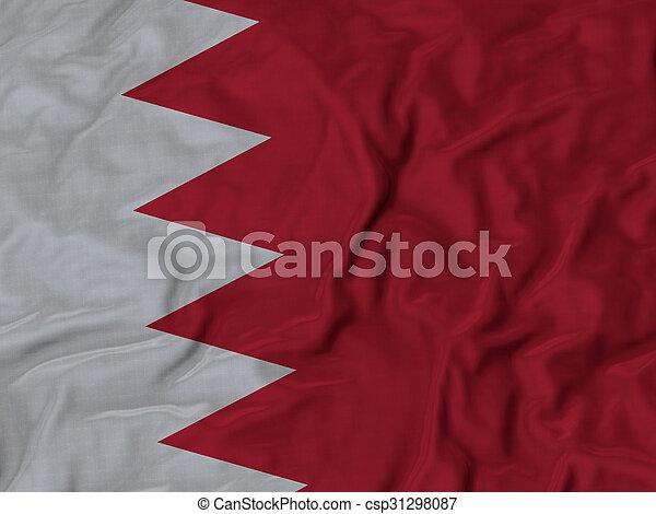 Ruffled Flag of Bahrain - csp31298087