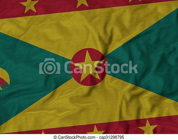 Ruffled Flag of Grenada - csp31298795