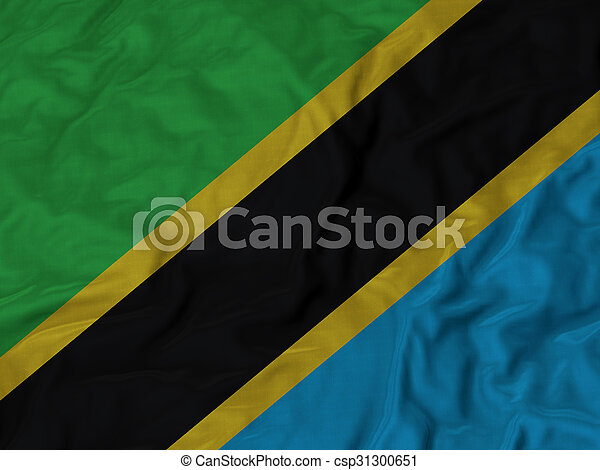 Ruffled flag of Tanzania - csp31300651