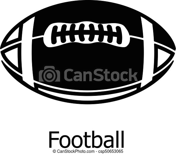 rugby ball icon simple black style rugby ball icon simple clip rh canstockphoto com rugby union ball clipart rugby ball clipart free