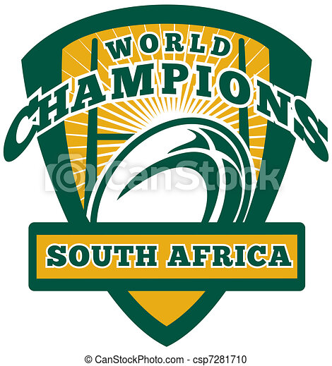 Rugby ball South Africa World Champions - csp7281710
