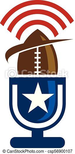 rugby, emblème, gabarit, logo - csp56900107
