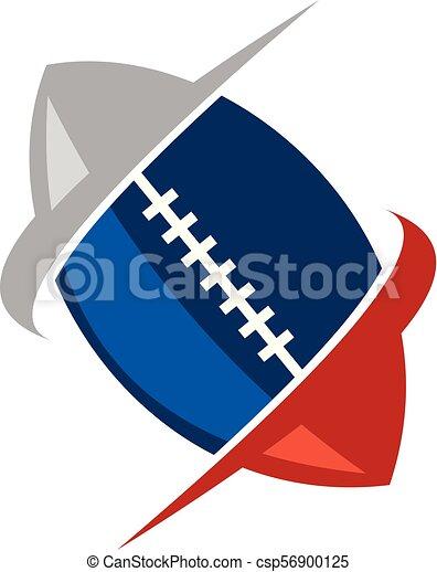 rugby, emblème, gabarit, logo - csp56900125