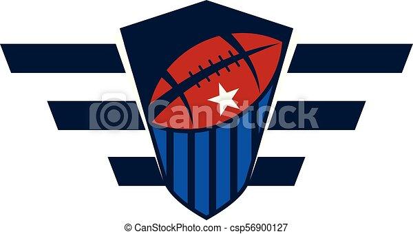 Rugby Emblem-Vorlage - csp56900127